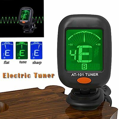 Digital Chromatic LCD Clip-On Electric Tuner for Bass Guitar Ukulele Violin fa