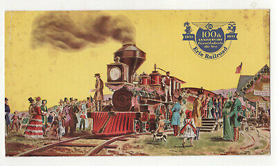 ERIE RAILROAD PC Postcard 100TH ANNIVERSARY Panoramic PIERMONT NEW YORK Hudson