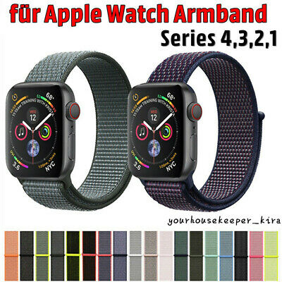 Für Apple Watch Armband Nylon Uhrenarmband Sport Loop Series 1 / 2 / 3 / 4 P