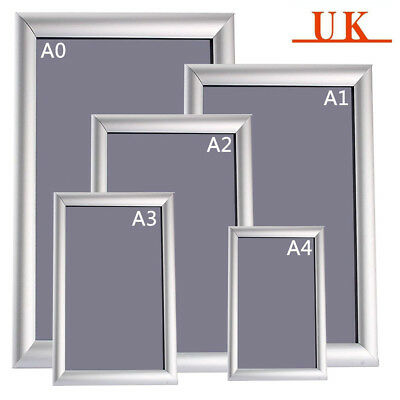 Aluminium A3 A4 Snap Poster Frame Clip Picture Photo Holder Display Waterproof