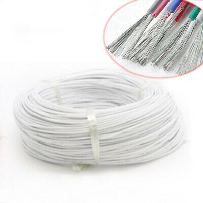 Silicone Cable Flexible Wire 30/28/26/24/22/20/18/16AWG HIGH TEMP UL White Meter
