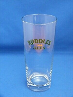 Collectable Tall Ruddles Ale Beer Shandy Pub Bar Glass H19cms 1 Pint