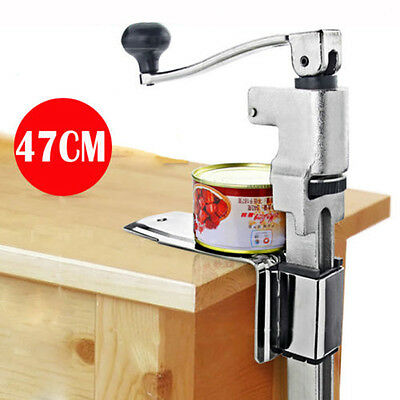 """13"""" Professional Catering Commercial Steel Bench Can Tin Opener Wall Mounted New"""