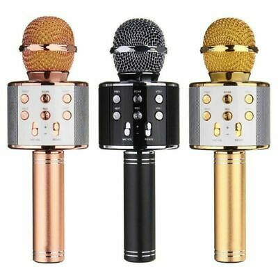 Speaker Wireless Bluetooth Karaoke WS-858 Microphone USB KTV Player MIC Handheld