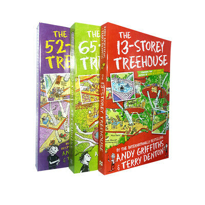 Andy Griffiths Collection 3 Books Set The 13-Storey Treehouse,65-Storey NEW