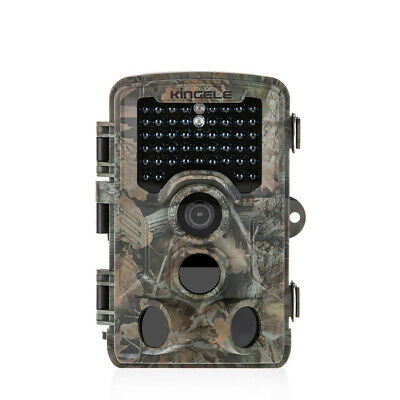 "KINGELE 2.4"" LCD Trail Camera 16MP FHD 1080P IP66 No Glow LED Night Vision"
