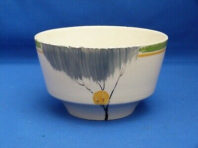 Vintage Art Deco Cream Burleigh Ware Decorative Sugar Bowl H7.5cm W13cm