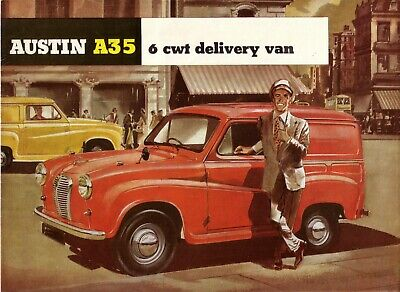 Austin A35 6 cwt Van 1960s - UK Sales Brochure - Own Collection Great Condition