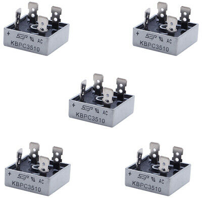 5Pcs 1000V 35A Metal Case Single Phases Diode Bridge Rectifier KBPC3510 New