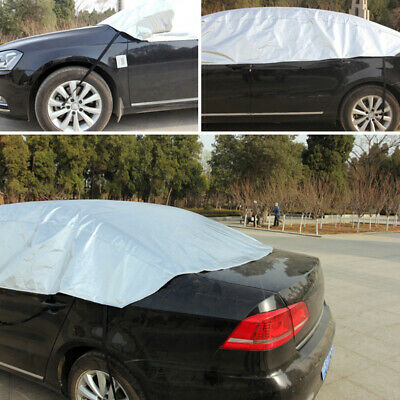 Car Top Cover Medium Waterproof Resistant Half Frost Protection UV Rays Saloon