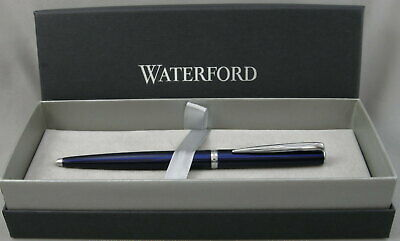 Waterford Glendalough Blue & Chrome Ballpoint Pen - New In Box - 65% OFF