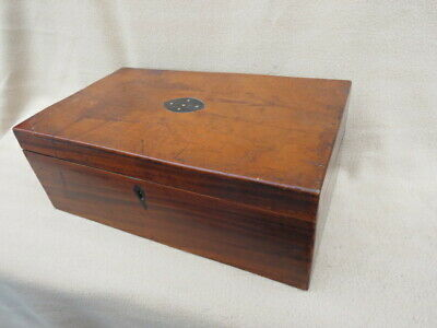 Large Heavy Antique Fitted Writing Slope With Secret Drawers For Restoration