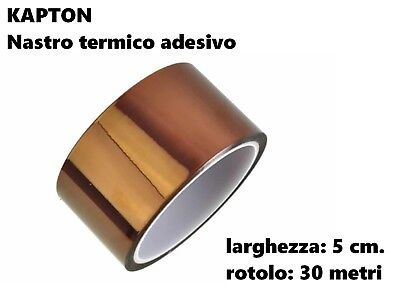 Kapton Tape Thermal Adhesive Resistant High Temperatures 5 cm Roll 30 Mtr