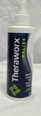 Theraworx Relief Spray Muscle Cramp and Spasm Homeopathic 7.1 OZ Exp 06/21