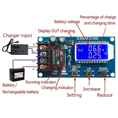 XY-L10A lithium battery charge controller protection board 6-60V LCD displayLTA
