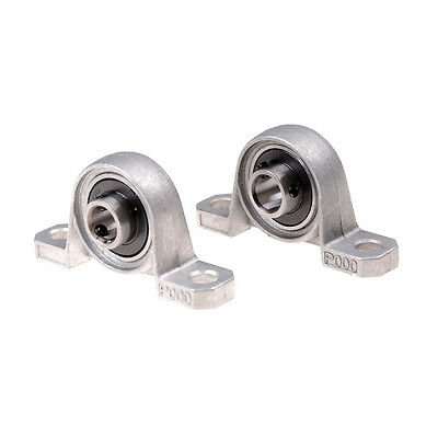 2Pcs 10mm Diameter Bore Ball Bearing Pillow Block Mounted Support KP000 TOLTA