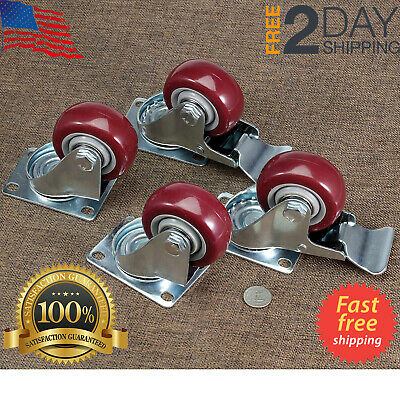4 Pack Heavy Duty Caster Wheels Swivel Casters with 360 Degree Top Plate 500lb