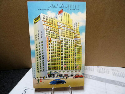 Linen Postcard Hotel Dixie Times Square New York NY