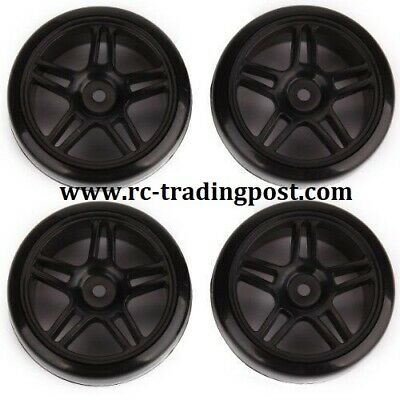 Type2 Chrome Wheels With Hard Drifting Tires 1//10th Scale 26mm RC Drift 4pc