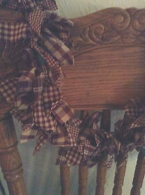 Country hand tied primitive 3 Foot black and tan garland