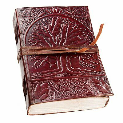 Vintage Tree Of Life Leather Journal Notebook Men Women Diary 10 x 7 150 Page
