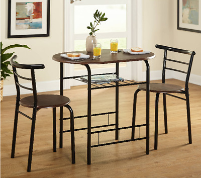BREAKFAST TABLE WITH Stools Tall Kitchen Set for High Pub ...