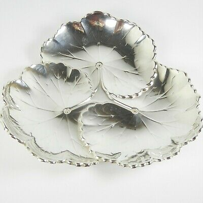 Reed & Barton Sterling Silver Art Nouveau Lily Pad Leaf Plate Dish X101 serving
