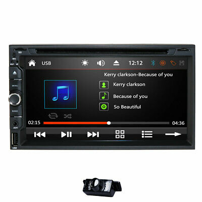 "Sony Lens Double 2Din 7"" Car Stereo Radio DVD Player In Dash BT MP3 Mirror Link"