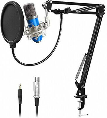 Tonor Condenser PC Microphone XLR 3.5Mm Boom Scissor Arm Vlog Youtube Gaming