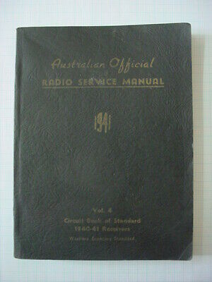 A.O.R.S.M AUSTRALIA OFFICIAL RADIO SERVICE MANUAL Vol 4 1941 2nd Ed. SOFT COVER