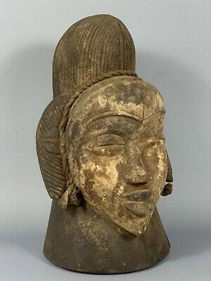 190645 - Old and Rare Tribal used African female Punu head mask - Gabon.