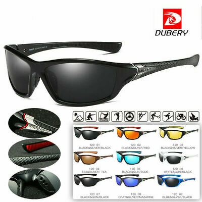 DUBERY Men Sport Polarized Sunglasses Outdoor Riding Driving Summer Goggles