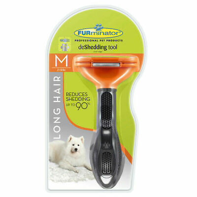 FURminator deShedding Tool for Long Hair Medium Dogs 21-50lbs