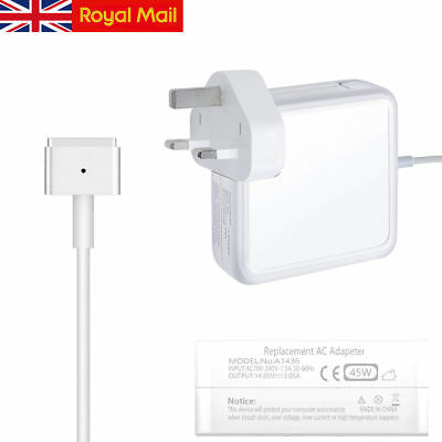 "For Apple 45W Macbook Air 11"" 13"" MagSafe2 Power Adapter Charger A1465 A1466"