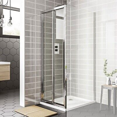 Duchy Spring Bi-Fold Shower Door 800mm Wide - 4mm Clear Glass