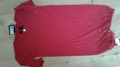Moschino  Love Moschino Knittted Red cotton cashmere jumper dress Size 44