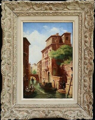 AMEDEE ROSIER (1831-1898) SIGNED FRENCH OIL ON CANVAS VENICE CANALS to £102,000