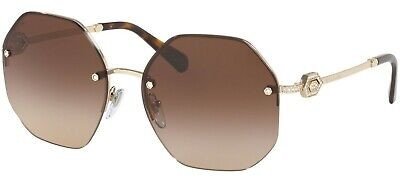 Bulgari Bvlgari 6122B 6122/B 58 278/13 Pale Gold Brown Gradient Lens Sunglasses