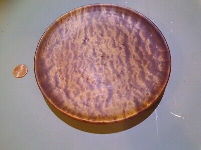 Antique Primitive Tiger Maple Hand Turned Plate Gorgeous!!!!!!