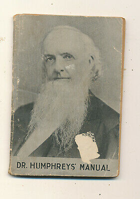 D626 1917 Booklet Dr Humphreys Manual Treatment Of Diseases 89 Pages Medicine