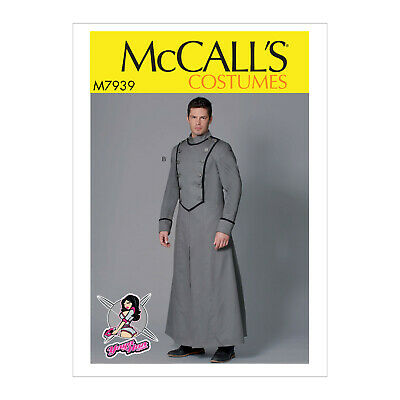 McCall/'s M7939 Mens Yaya Han Cosplay Military Coat Pattern Sz 38-52