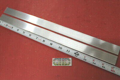"2 pieces 1/4"" X 1"" ALUMINUM 6061 FLAT BAR 16"" long T6511 Solid Mill Stock Plate"