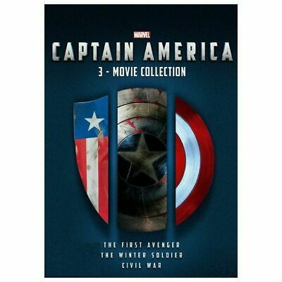 CAPTAIN AMERICA 1-3 DVD collection Brand New & sealed Fast & Free Postage