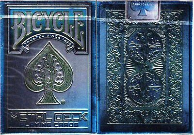 Metal Rider Back Blue Bicycle Playing Cards Poker Size Deck USPCC Custom Limited