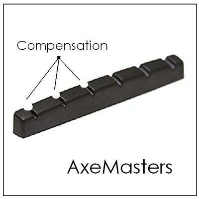 AxeMasters COMPENSATED Black Nut made for FENDER / SQUIER Guitar Strat Tele