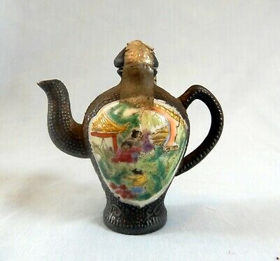 Antique Rare Chinese porcelain teapot snuff bottle retired circa early 1900s