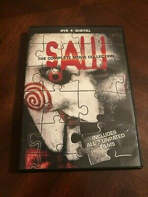 SAW: The Complete Movie Collection (DVD + Digital  2014, 4-Disc Set) Horror