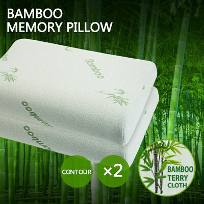 Bamboo Luxury Memory Foam Pillow, Anti-Bacterial Premium Support Pillow