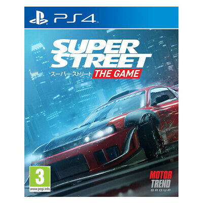 Super Street The Game Sony PlayStation PS4 2018 PAL EU English Factory Sealed