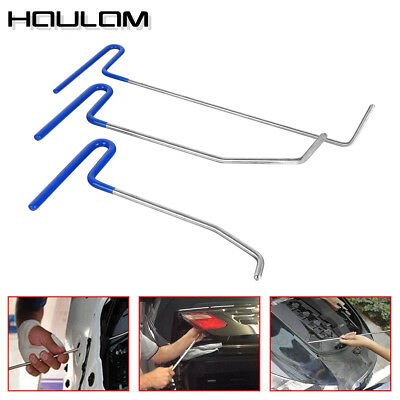 3x Paintless Dent Puller Rods Hail Removal Tools Car Body Repair Kit B9+B10+B11